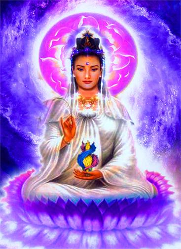 Quan Yin on lotus