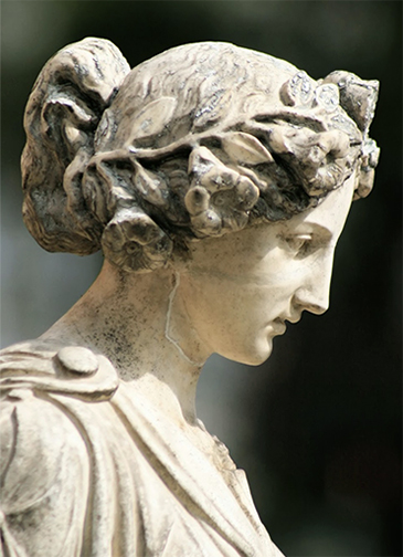 Master Senna statue profile