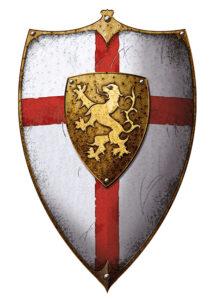 Templar shieldw with cross