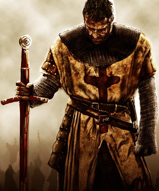 Templar Knight alone