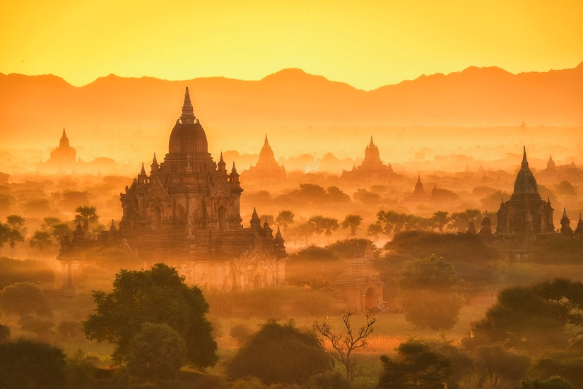 Temples of Light in Mist