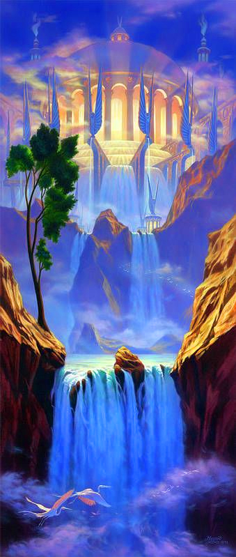 Temple of Light Waterfall