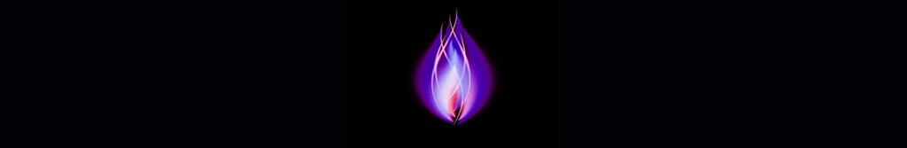 Soul flame in violet