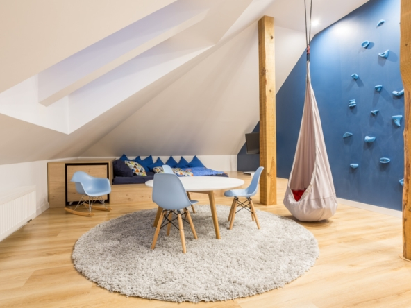 Play room at the attic