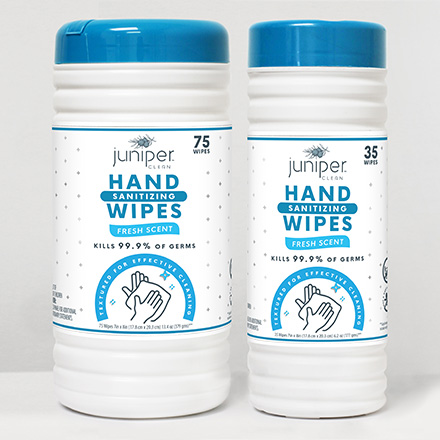 Juniper Clean Hand Sanitizing Wipes