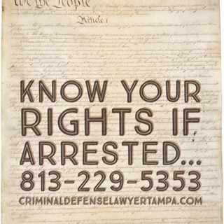 Know your rights if you are arrested