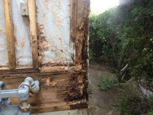 rotted structural members, corner post