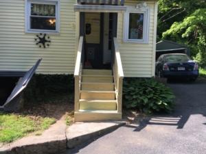 steps - railings - exterior