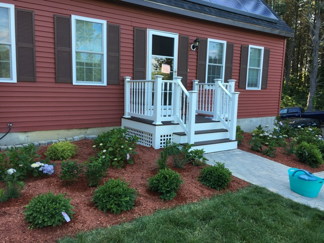 Deck replacement steps maintenance free