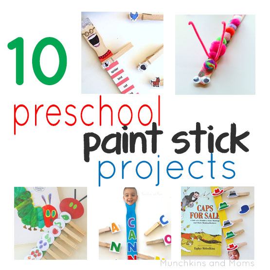 10 Preschool Paint Stick Projects- These are brilliant! THey work on sequencing,fine motor skills, spelling, etc. Love them!