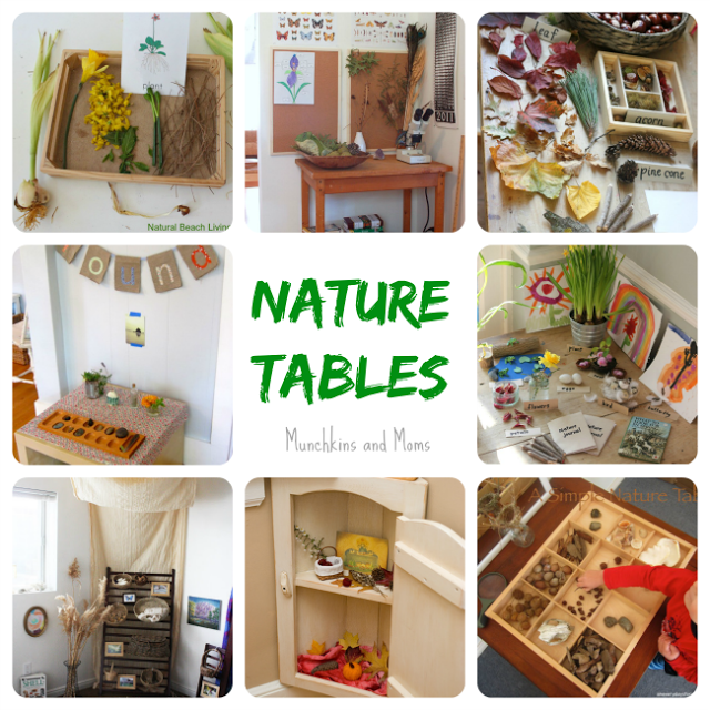 Nature Tables- beautiful and inspiring spaces for home preschoolers