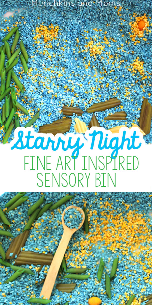 Give preschoolers a chance to explore the famous Starry Night painting with this hands-on sensory bin!