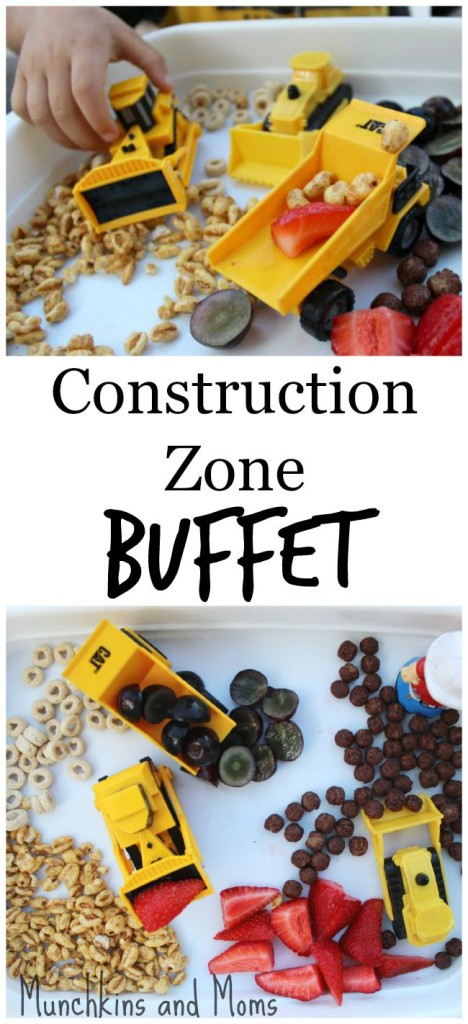 Bulldozers, dump trucks, and breakfast, oh my! A fun tractor themed snack for toddlers and preschoolers!