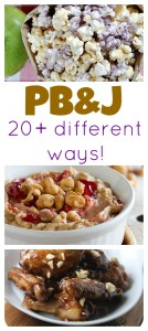 Peanut BUtter and Jelly is a pantry staple- use it to make more than just sandwiches! These 20+ ideas will get your mouth watering!