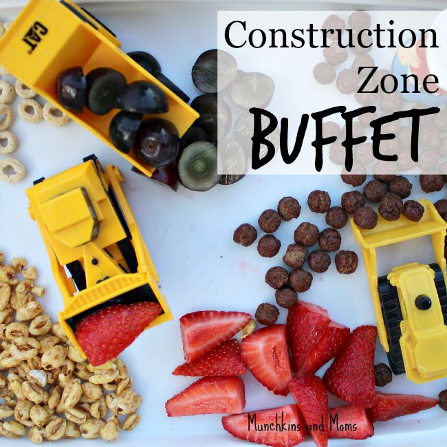 A fun snack for preschoolers using toy tractors and breakfast cereal!