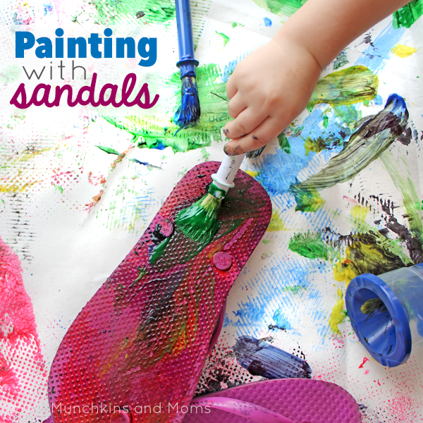 Summer fun! There's so much great texture on the soles of flip-flops!