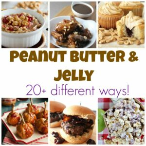 Peanut butter and jelly are pantry staples- find out 20+ ways to use them in more than just sandwhiches!