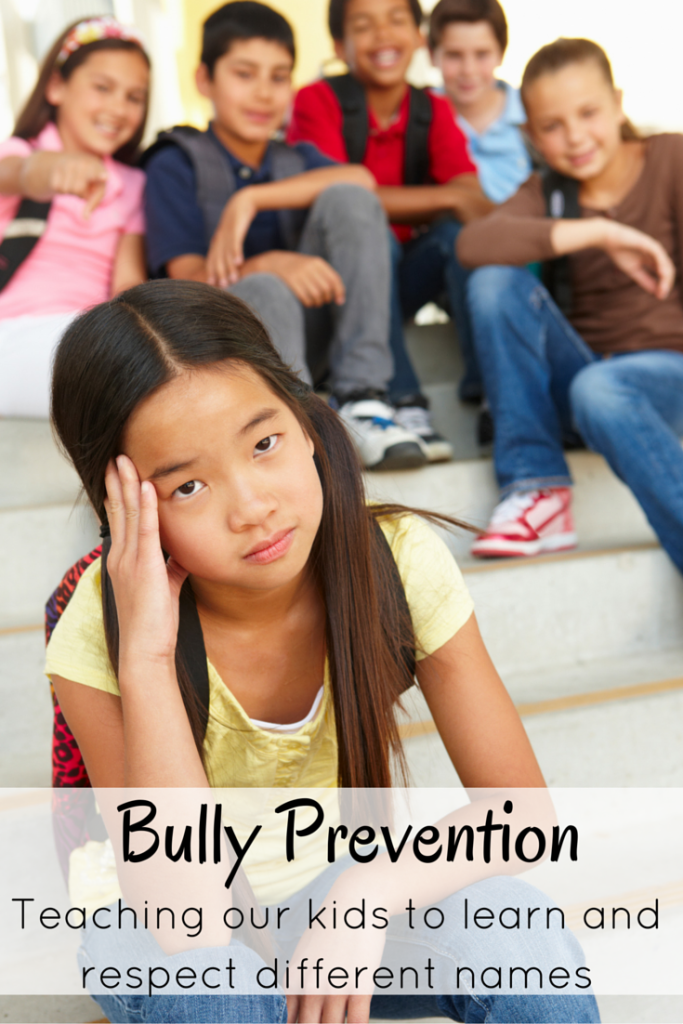Bully Prevention- teaching kids to learn and respect different names