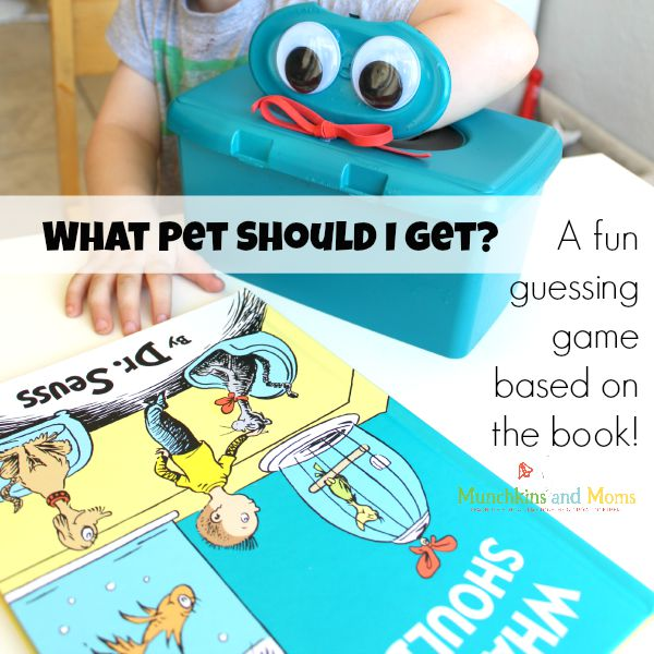 """A fun guessing game activit to go along with the new Dr. Seuss book """"What Pet Should I Get?"""""""