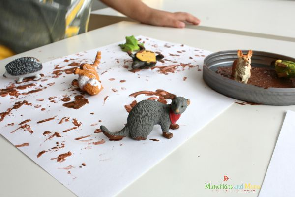 Muddy animals painting is a fun way to create art!