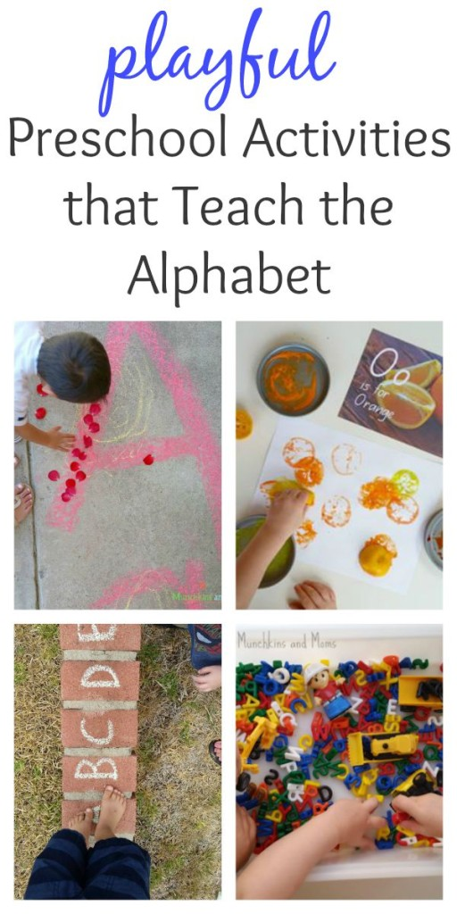 playful alphabet activities for preschoolers- A lot of fun out-of-the box ideas here!