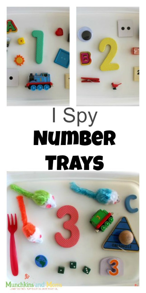 I Spy Tray- a great early math activity for preschoolers!