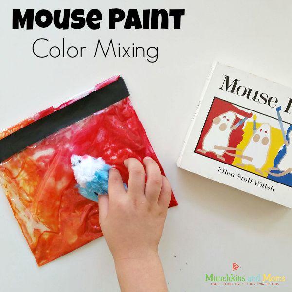 Mouse Paint color mixing activity!