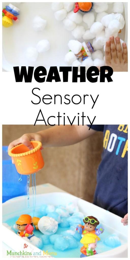 Weather Sensory Activity for preschoolers