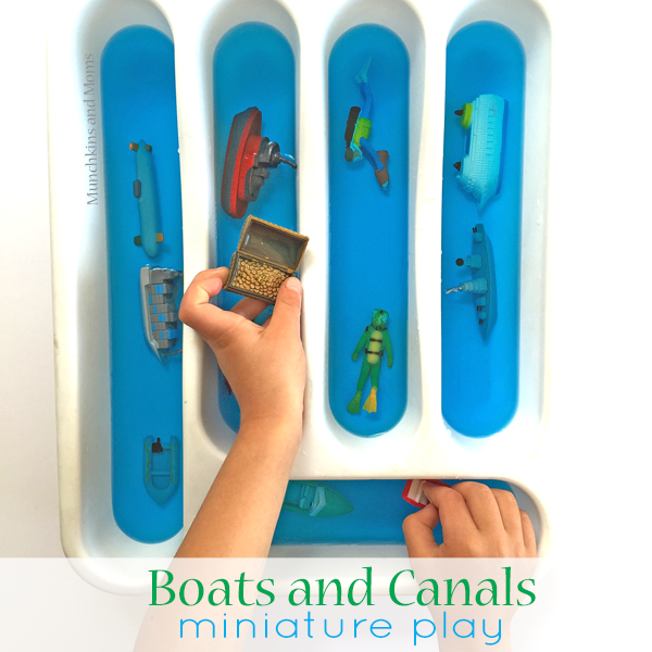boats and canals pretend play