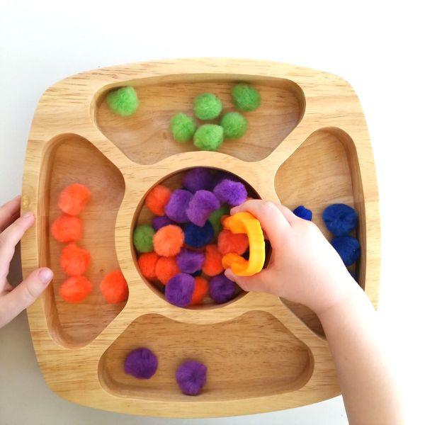 Fine motor color sorting game