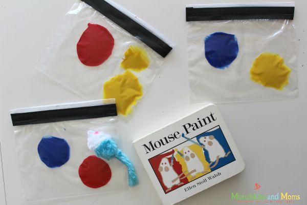 Mouse paint color mixing activity