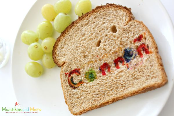 Name recognition snack activity for preschoolers!