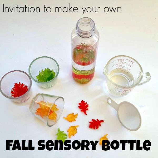 fall sensory bottle 1