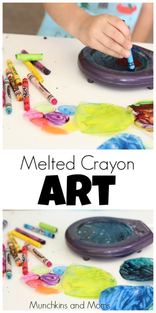 Genius. This is a great way for kids to make melted crayon sun catchers!