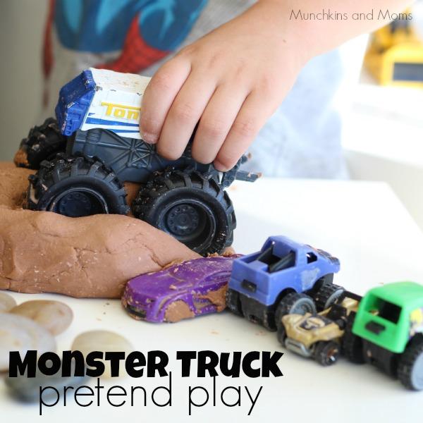 Monster truck pretend play