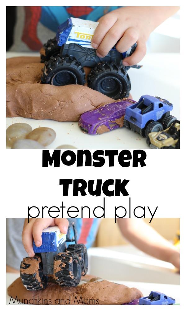Monster truck pretend play!