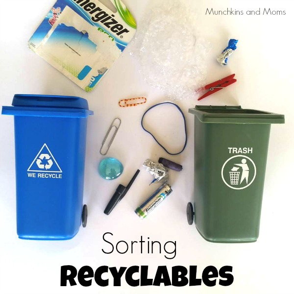 sorting recyclables