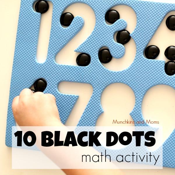 10 black dots math activity for preschoolers