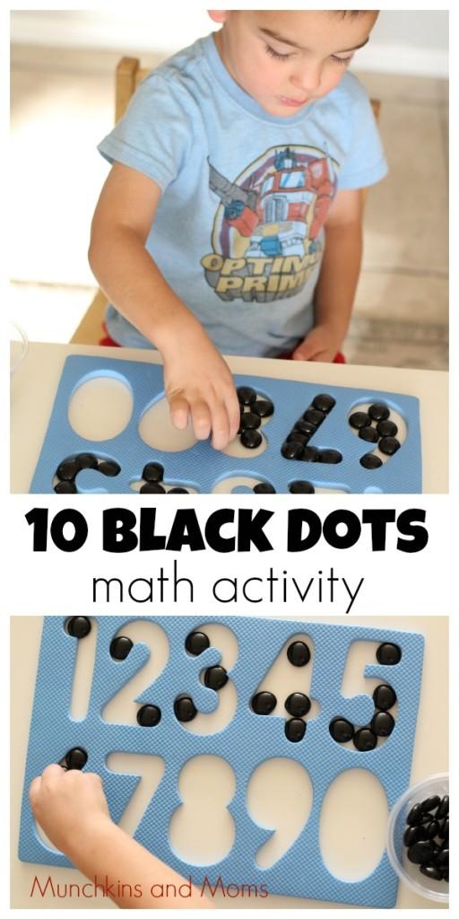 10 Black Dots - A great preschool math activity based on Donald Crews' classic book!