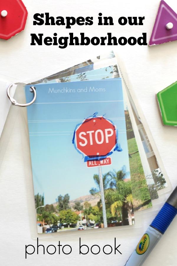 Shapes in our neighborhood preschool photo book