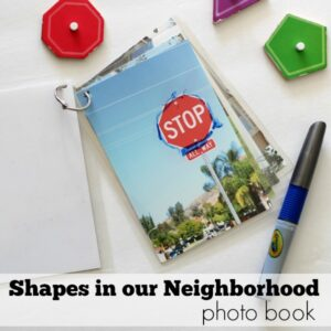 Shapes in our neighborhood- preshool activity