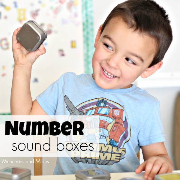 Exploring numbers with our five senses: Number Sound Boxes