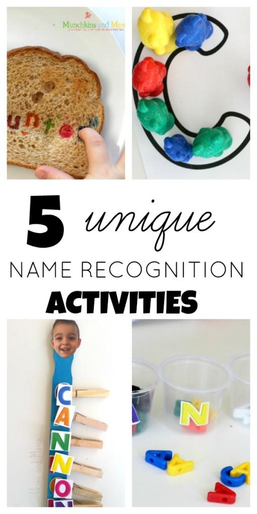 Five unique name recognition activities for preschoolers