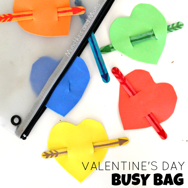 Valentine's Day Busy Bag- whay a great toddler activity!