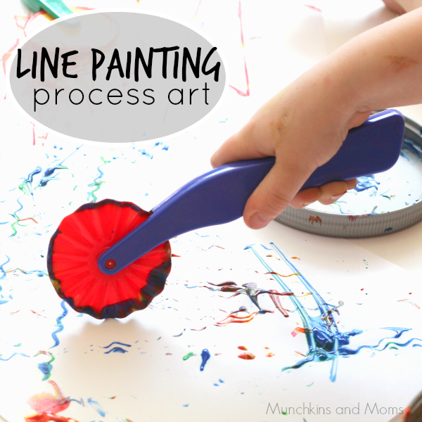 Line Painting Process Art