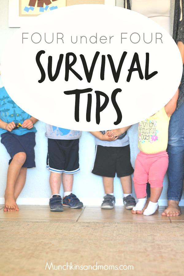 Survival tips for four under four kids.