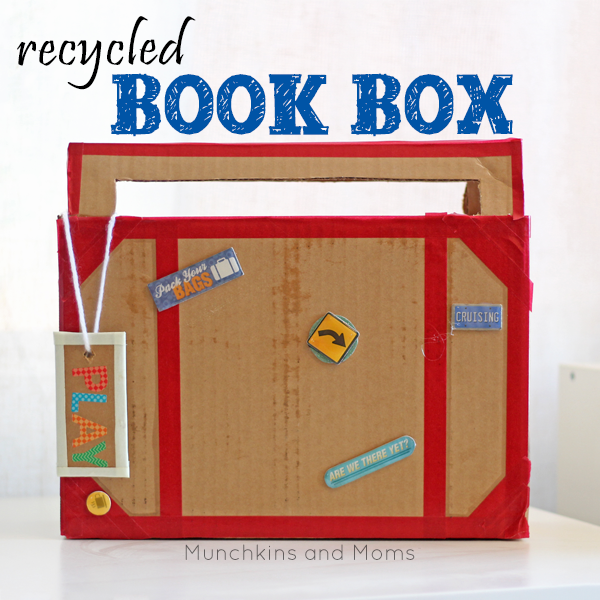 """Preschool Book Box- What a great way to make book boxes for preschool and kindergarten students! Pairs perfectlywith our """"Books take you places"""" theme."""