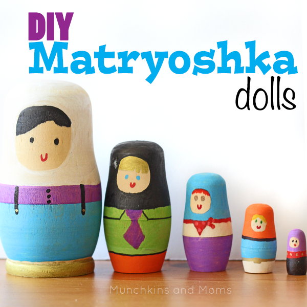DIY Matryoshka Dolls (Russian nesting dolls). I like the modern and playful look of thee ones!