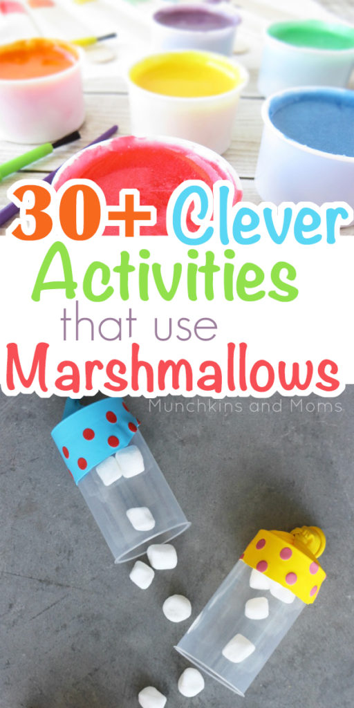 Use marshmallows for these 30+ fun activities! Great summer ideas for kids!