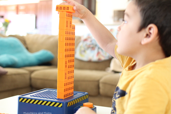 Building Activities for babies, toddlers, and preschoolers! STEM learning can happen at all ages with these toys!